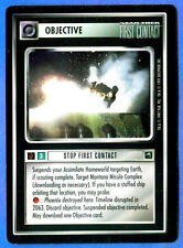Star Trek CCG   STOP FIRST CONTACT  (1st Contact)  Objective