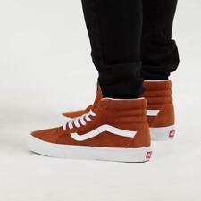 Vans Sk8-Hi Reissue Suede Leather Brown Skate Shoes Men's Size 9