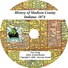 1874 History & Genealogy of MADISON County Indiana IN