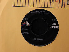 EXTREMELY RARE!! Jim Reeves Four Walls b/w Bimbo 45-rpm Record