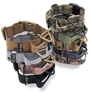 "1.5"" Width Tactical Dog Collar HEAVY DUTY Military Training Handle M, L, XL, XXL"
