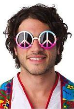 MUJER HOMBRE signo de la Paz Hippy Años 60 70's CARNAVAL Woodstock Gafas Disfraz