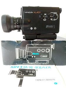 Vintage Design Minolta XL 401. Super 8 Movie Camera/ in original packaging