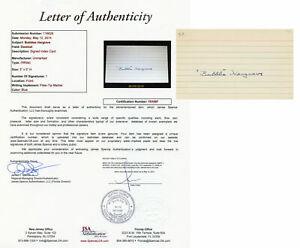 Bubble Hargrave Signed JSA LOA Index Card Auto Autographed Cincinnati Reds COA