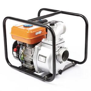 "Petrol Water Pump Portable Flood Drainage 3"" 4 Stroke 6.5HP 1000l/min"