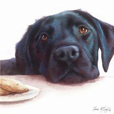 Countryside Collection - Watercolour Labrador (Black) - Blank Greetings Card