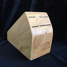 """Wooden Knife Block By Chicago Cutlery 4 Slots 6.5"""" X 3.2"""" X 5"""" Light Oak Color"""
