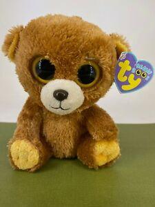 TY - Beanie Boos-  2012 Honey the Bear -Retired Solid Eyes Soft Toy Plush