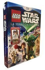 Blu-ray + Minifigure Han Solo **LEGO STAR WARS LA MINACCIA PADAWAN** nuovo 2011