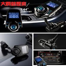 "Car Wireless Bluetooth 1.44"" Screen FM Transmitter Modulator MP3 Audio Player SD"
