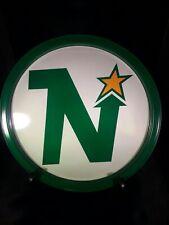 Vintage Mid 70's hockey metal tray Minasota Northstars made by Atlantic Can Co