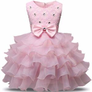 Tutu Mesh Newborn Baby Girl Princess Dress Baptism Gown Birthday Dresses