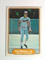 1982 Fleer Baseball #176 Cal Ripken, Jr. Baseball Rookie Card Orioles RC HOF