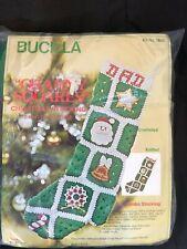 Bucilla Granny Square Christmas Stocking Knit or Crochet 7843 Unopened