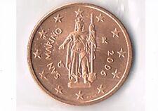 PIECE 2 CENTIME D'EURO SAINT-MARIN 2006 NEUVE