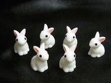 CAKE topper Figura Decorazione Compleanno Personaggi-conigli-coniglietti di Pasqua x6