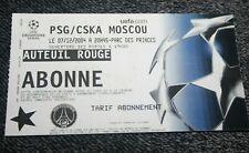 TICKET )) PSG V CSKA MOSCOU )) Champions League  2004/2005