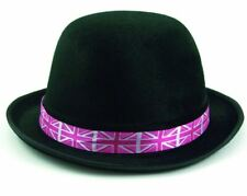GB Bowler Hat Pink Standard Great Britain  Adult One Size Fits Most Party