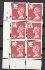 New listing Wales - Questa - 25p Salm0N Pink - Cyl Q5 x 6 Mnh