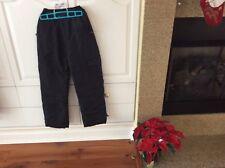 ATHLETIC WEAR BOY / GIRL CHILDREN SKI SNOW PANTS SIZE 12/14 BLACK NEW