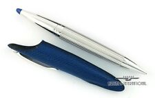 Jorg Hysek Palladium Rollerball Pen with Translucent Blue Crown & Pen Case
