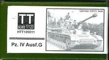 Hauler Models 1/120 German PANZER IV AUSF. G TANK Resin & Photo Etch Model