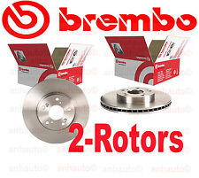 Set of 2 Brembo 25549 Front Disc Brake Rotor's for Honda