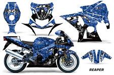 AMR Racing Graphic Kit Wrap Part Suzuki GSXR 1000 Street Bike 01-02 REAPER BLUE