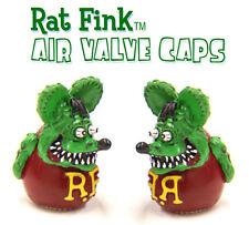 MOON EYES RAT FINK TYRE AIR VALVE CAPS CAR BIKE HOT ROD LOWRIDER KUSTOM