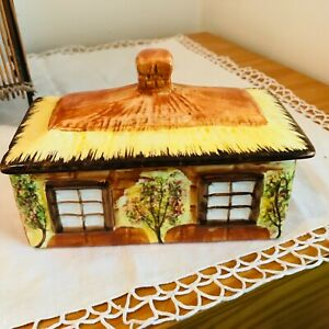 FABULOUS ART DECO COTTAGE  WARE BUTTER DISH  IN GREAT CONDITION