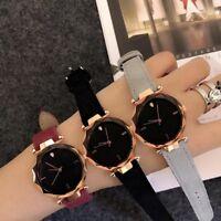 Fashion Single Diamond Leather Band Women Casual Quartz Wristwatches Watches New