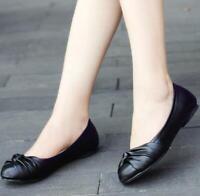 Fashion Damen Freizeit Loafers Kunstleder Outdoor Ballett Flach Schuhe 45 46 47