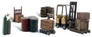 Woodland Scenics N Scale Scenic Accents Detail Set Loading Dock/Fork Lift/Barrel
