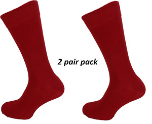 Mens 2 Pair Pack Cherry Red Mod Retro Socks