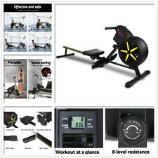 Everfit Rowing Exercise Machine 8 Level Resistance - Black