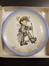 "1977 Schmid Bros Mother'S Day Plate Artist Berta Hummel ""moonlight Return� Vintg"