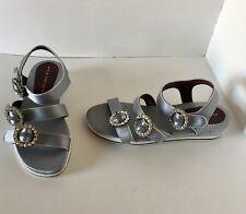 Marc Jacobs Metallic Charlotte Embellished Triple-strap Sandals Shoe 38 EU