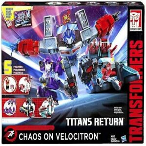 Transformers TITANS RETURN CHAOS ON VELOCITRON NIB NEW SEALED US