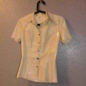 erotikkleidung latex bluse weiss