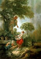"""perfect 24x36 oil painting handpainted on canvas""""Picking """"@9904"""