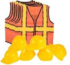 Kids Dress Up Construction Set - 6 Construction Worker Vest with 6