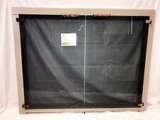 """Stoll Glass Fireplace Door Bone Taupe Iron Antique Copper Accents 38"""" x 30"""""""