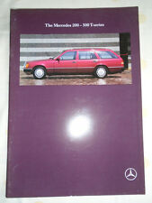 Mercedes 200 - 300 T Series brochure May 1990