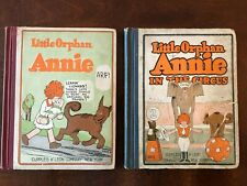 Little Orphan Annie #1 & #2 (Circus) VG! 1926 Cupples & Leon Series! Tough Books