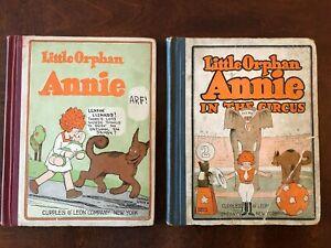 Little Orphan Annie #1 & #2 (Circus) VG! 1926 Cupples & Leon Series! Tough Books