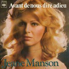 JEANE MANSON AVANT DE NOUS DIRE ADIEU / i LOVE YOU FRENCH 45 SINGLE