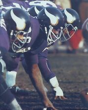 ALAN PAGE 8X10 PHOTO MINNESOTA VIKINGS PICTURE NFL AT THE LINE