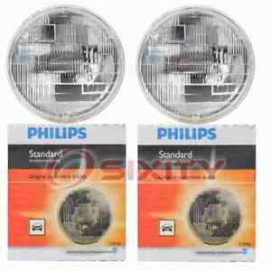 2 pc Philips Low Beam Headlight Bulbs for Renault R12 R15 R17 R5 1972-1979 gn