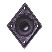 Interruptor de timbre de puerta de diamante Victoriana En Hierro Fundido Negro (AB468)