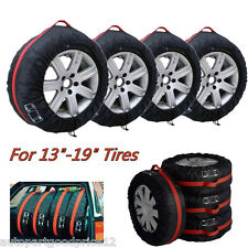 "4x Car Seasonal Spare Tyre Tire Protection Cover Carry Tote Storage Bags 13""-19"""